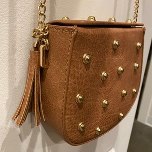 Urban Expressions Studded Crossbody, Brown